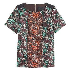 J Crew Collection Pop Floral Jacquard Top 4